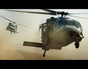 3D model HH-60G Pave Hawk