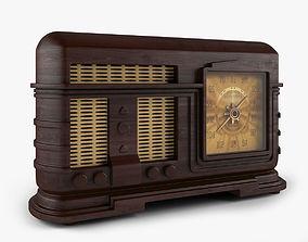 3D model Old Radio speaker