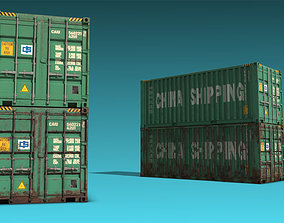 3D asset Shipping Container 07
