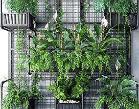 3D model Wall Grid Plants Pot 6