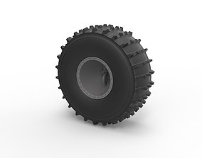 Diecast Offroad wheel 41 Scale 1 to 20 3D print model