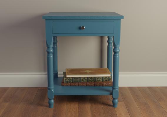 Fine Blue Wood Nightstand