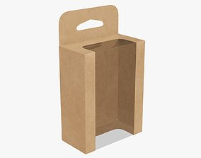 3D model Hanging cardboard display box retail 07