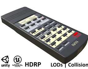 Game-ready Vintage Remote Control 3D model