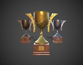 3D model game-ready Winner Cup Trophy