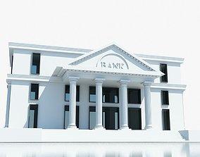 Bank Building Symbol 3D