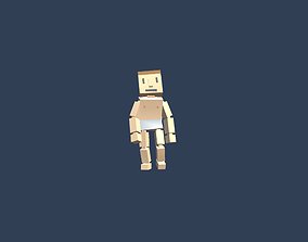 3D asset Voxel Character 1 - Bones and animations
