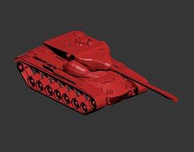 Tank Low-poly 01 3D model sculptures