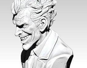 The Crazy Joker Bust Detailed Realistic 3D print model