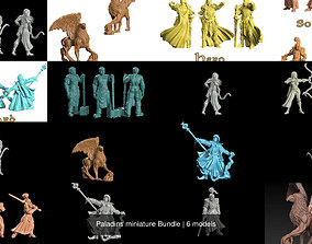 3D model Paladins miniature Bundle