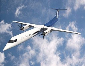 Bombardier q400 airplane 3D model