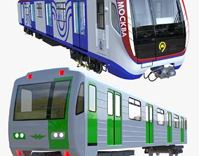 Russian subway cars 3D