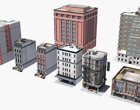 3D model 8 City Buildings