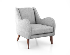 3D model Sebastian Chair by West Elm