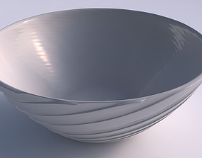 Bowl wide with twisted smooth ribbons 3D print model