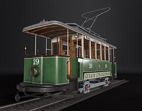 Tram 3D Model Gameready realtime