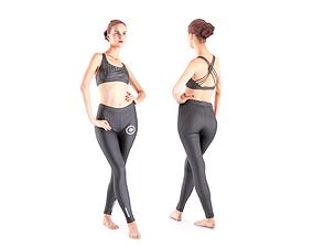 3D asset Female dancer 17