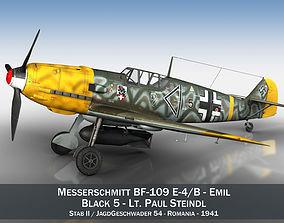 Messerschmitt - BF-109 E - Black 5 3D