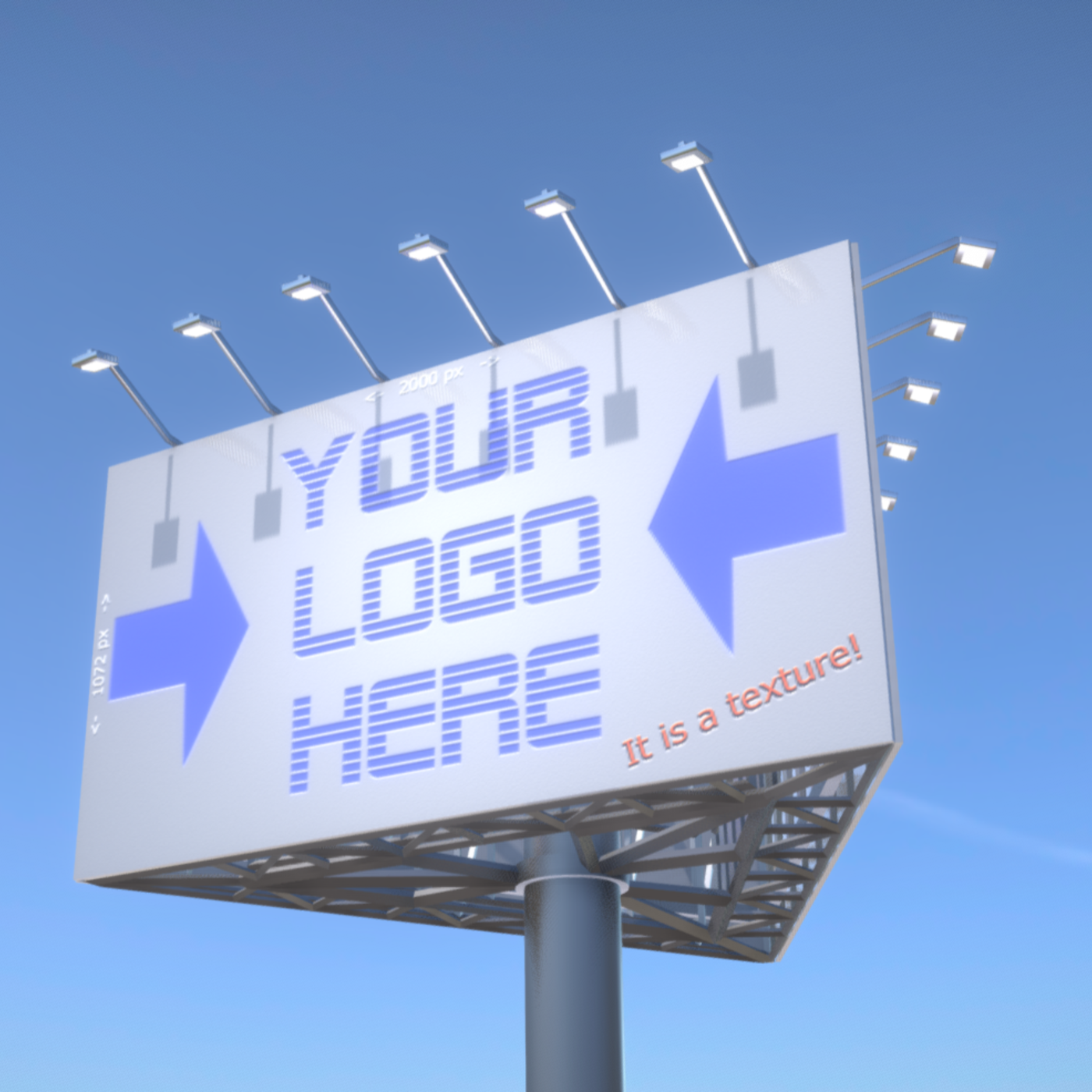 Advertising Billboard (Version 1) High-Poly