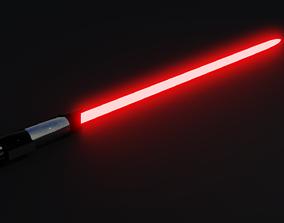 Darth Vader Lightsaber laser 3D model animated