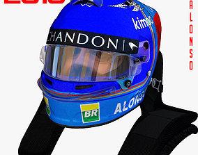3D model Alonso Helmet 2018
