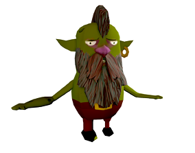 3D model Goblin Low Poly - Game Ready