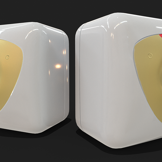 Bathroom Water Heater Geyser - Racold Andris Low-poly 3D model