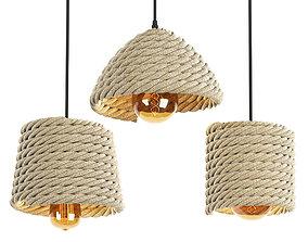 3D model Ceiling Light Set