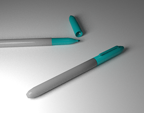 3D asset Turquoise Markers