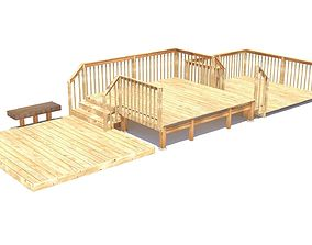 3D model Three Level Deck for Houses