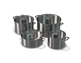 Stainless Cooking Pots 3D model