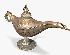 Magic Oil Lamp Lowpoly 3D model
