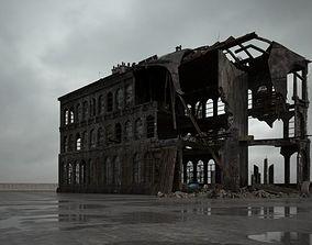 3D destroyed building 100 am165