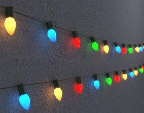 3D model String Christmas Lights V6