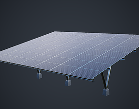 3D model Large Solar Array PBR