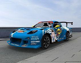 Car D1 FD Blue Sport 3D asset