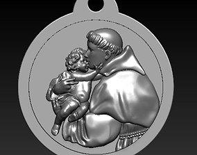 Saint Anthony -Medallion San Antonio 3D model