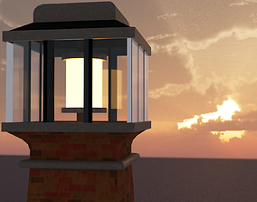 Semi Realistic Lighthouse 3D model