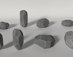 Low Poly Rocks 3D model