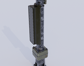 Nuclear Reactor Drive 3D asset animated