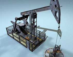 3D model Pumpjack
