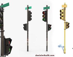 Traffic Light PBR Textures 3D model
