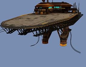 Landing Platform Scifi 3D