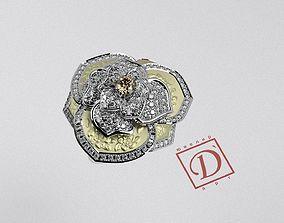 3D print model Ring Flower