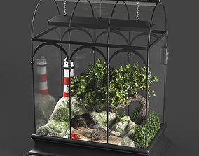 Terrarium with turtle 3D model