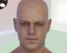 3d model Matt Damon head realtime