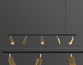 Lino Linear Spotlight Pendant Lampatron 3D