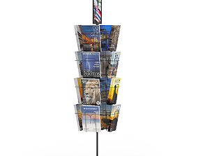 Market Stand with Magazines 2 3D