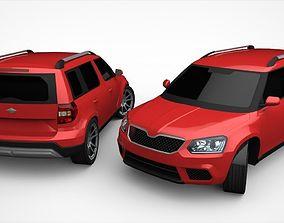 SUV Yeti Lowpoly 3D asset