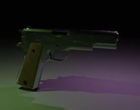 Colt M1911 3D model rigged
